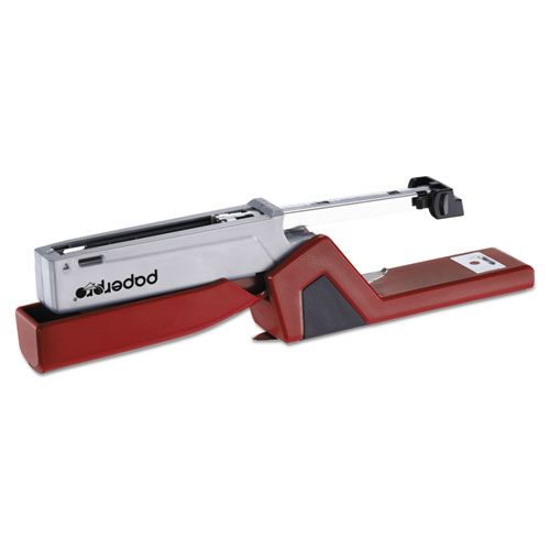 InJoy Spring-Powered Compact Stapler, 20-Sheet Capacity, Red. Picture 6