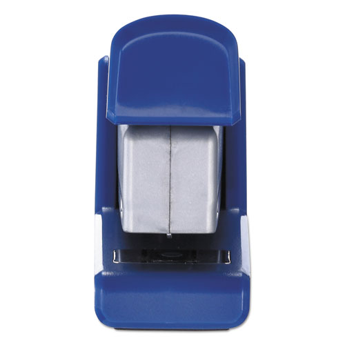 InJoy Spring-Powered Compact Stapler, 20-Sheet Capacity, Blue. Picture 8