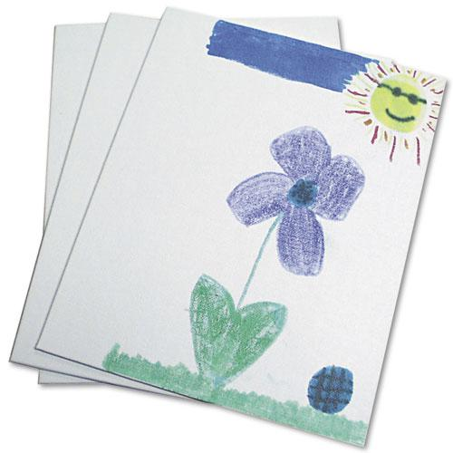 Canvas Panel, 9 x 12 x 0.13, White, 3/Pack. Picture 1