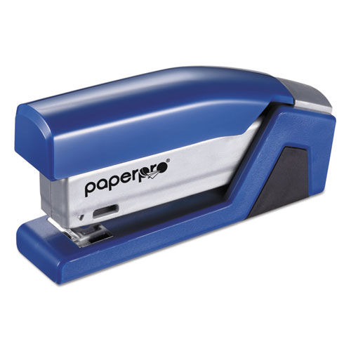 InJoy Spring-Powered Compact Stapler, 20-Sheet Capacity, Blue. Picture 9