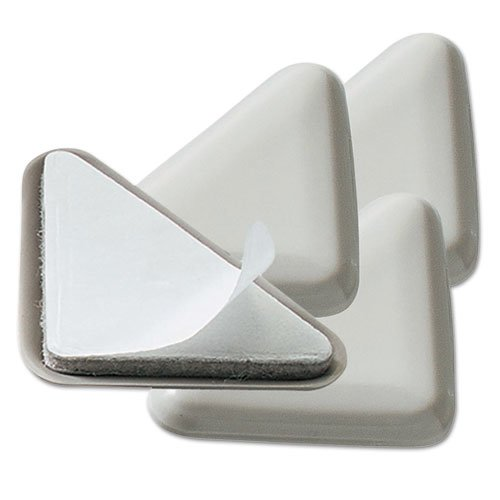 Cabinet Floor Savers, Triangular, 7w x 1.13d x 8h, Beige, 4/Pack. Picture 1