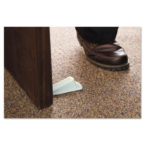 Big Foot Doorstop, No Slip Rubber Wedge, 2.25w x 4.75d x 1.25h, Beige, 2/Pack. Picture 2