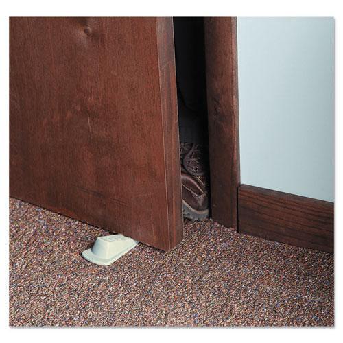 Big Foot Doorstop, No Slip Rubber Wedge, 2.25w x 4.75d x 1.25h, Beige, 2/Pack. Picture 3