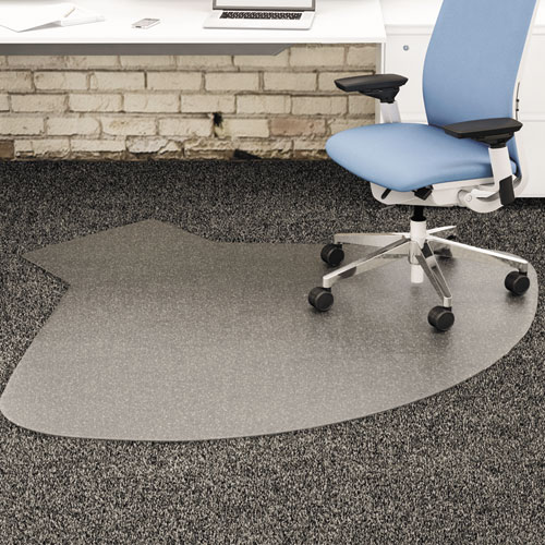 SuperMat Frequent Use Chair Mat, Medium Pile Carpet, 60 x 66, Workstation, Clear. Picture 1