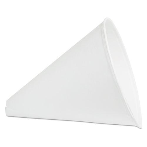Paper Cone Funnel Cups, 10 oz, White, 1,000/Carton. Picture 1