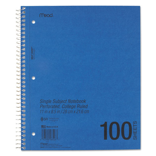 DuraPress Cover Notebook, 1 Subject, Medium/College Rule, Assorted Color Covers, 11 x 8.5, 100 Sheets. Picture 2