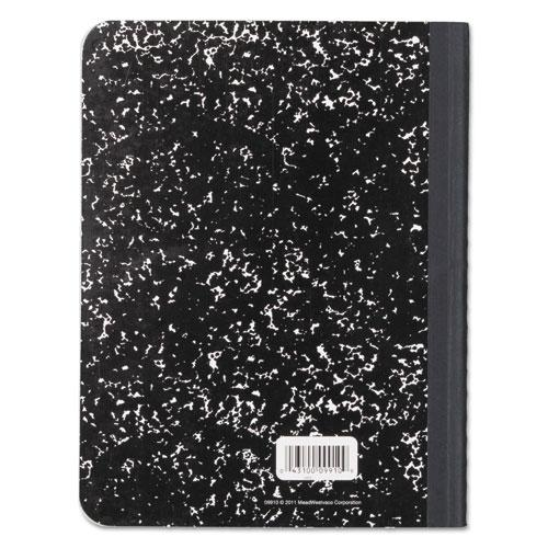 Composition Book, Wide/Legal Rule, Black Cover, 9.75 x 7.5, 100 Sheets. Picture 3