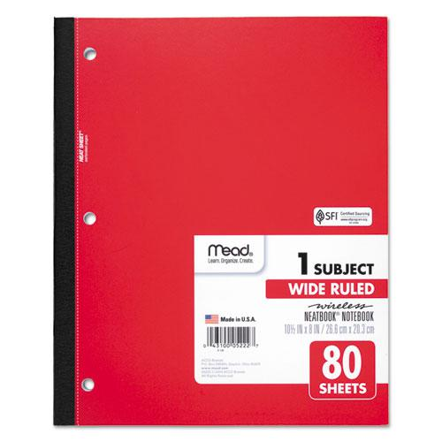 Wireless Neatbook Notebook, 1 Subject, Wide/Legal Rule, Assorted Color Covers, 10.5 x 8, 80 Sheets. Picture 5