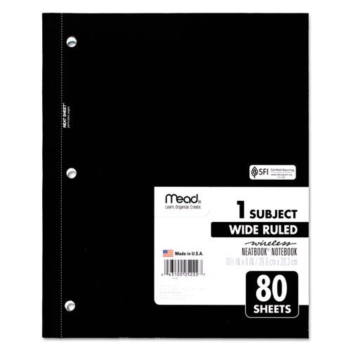 Wireless Neatbook Notebook, 1 Subject, Wide/Legal Rule, Assorted Color Covers, 10.5 x 8, 80 Sheets. Picture 2