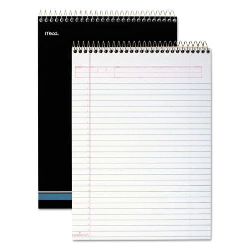 Stiff-Back Wire Bound Notebook, 1 Subject, Wide/Legal Rule, White/Blue Cover, 8.5 x 11.5, 70 Sheets. Picture 2