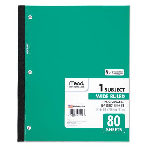 Wireless Neatbook Notebook, 1 Subject, Wide/Legal Rule, Assorted Color Covers, 10.5 x 8, 80 Sheets. Picture 4