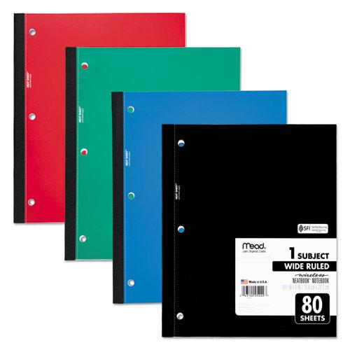 Wireless Neatbook Notebook, 1 Subject, Wide/Legal Rule, Assorted Color Covers, 10.5 x 8, 80 Sheets. Picture 1