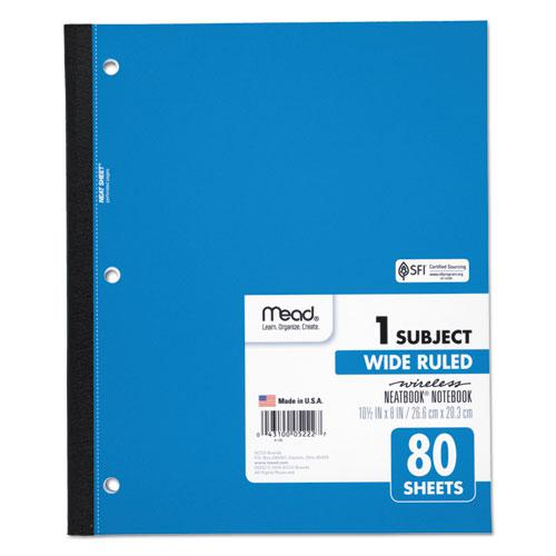 Wireless Neatbook Notebook, 1 Subject, Wide/Legal Rule, Assorted Color Covers, 10.5 x 8, 80 Sheets. Picture 3