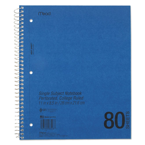 DuraPress Cover Notebook, 1 Subject, Medium/College Rule, Assorted Color Covers, 11 x 8.5, 80 Sheets. Picture 2