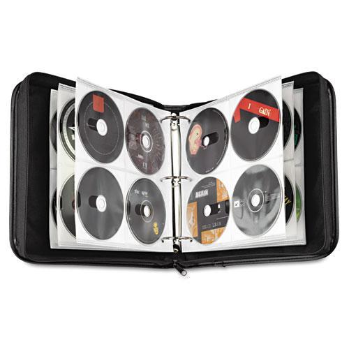 CD/DVD Expandable Binder, Holds 208 Discs, Black