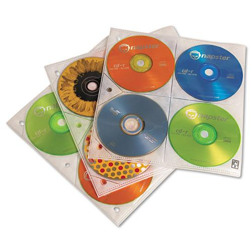 Two-Sided CD Storage Sleeves for Ring Binder, 25 Sleeves. Picture 1