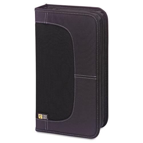 CD/DVD Wallet, Holds 72 Discs, Black