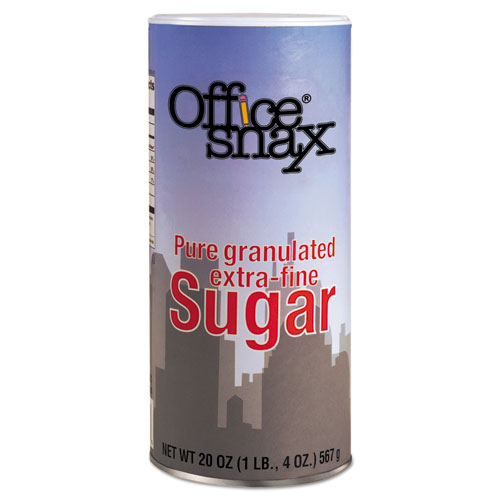 Reclosable Canister of Sugar, 20oz, 24/Carton. Picture 1
