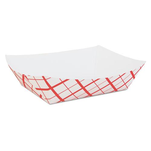 Paper Food Baskets, Red/White Checkerboard, 5 lb Capacity, 500/Carton. Picture 1