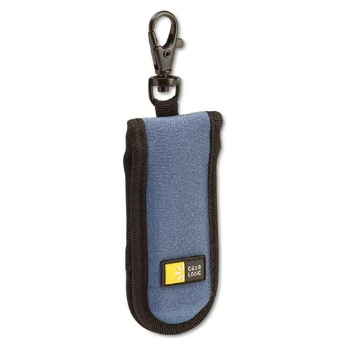 USB Drive Shuttle, Holds 2 USB Drives, Blue. Picture 1