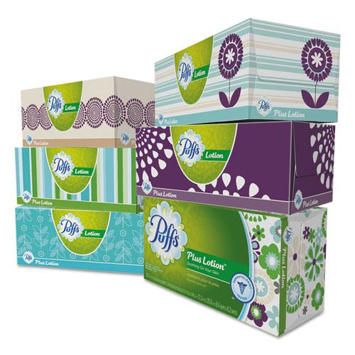 Plus Lotion Facial Tissue, 2-Ply, White, 124 Sheets/Box, 6 Boxes/Pack, 4 Packs/Carton. Picture 2