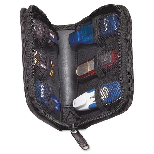 Media Shuttle, Holds 6 USB Drives, Black