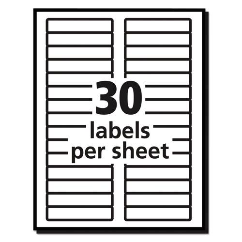 Permanent TrueBlock File Folder Labels with Sure Feed Technology, 0.66 x 3.44, White, 30/Sheet, 50 Sheets/Box. Picture 5