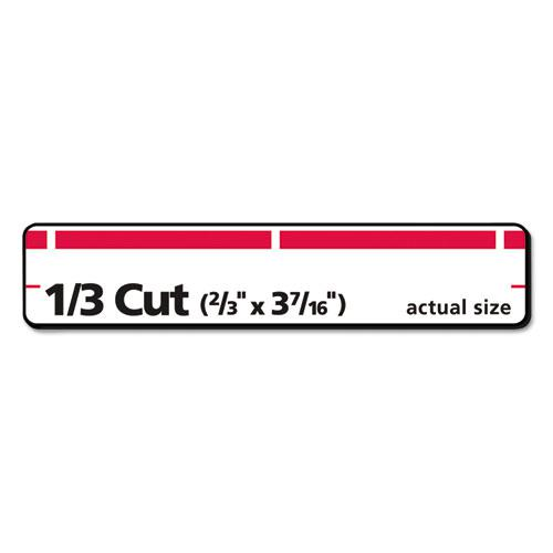 Permanent TrueBlock File Folder Labels with Sure Feed Technology, 0.66 x 3.44, White, 30/Sheet, 50 Sheets/Box. Picture 4