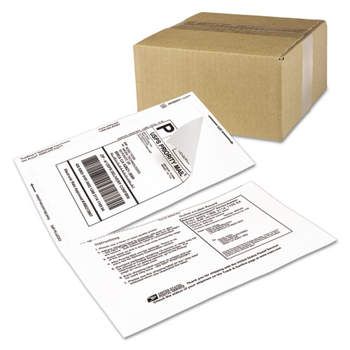 Shipping Labels with Paper Receipt and TrueBlock Technology, Inkjet/Laser Printers, 5.06 x 7.63, White, 50/Pack. Picture 2