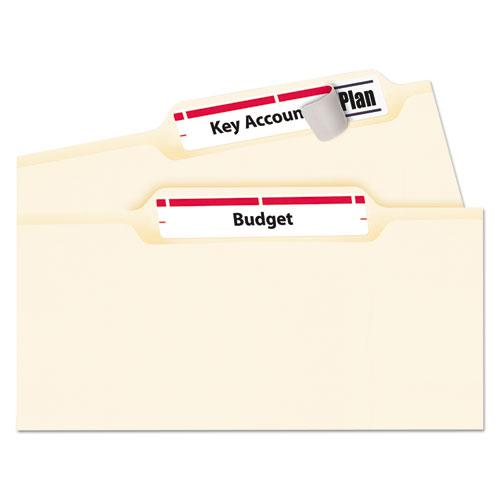 Permanent TrueBlock File Folder Labels with Sure Feed Technology, 0.66 x 3.44, White, 30/Sheet, 50 Sheets/Box. Picture 2