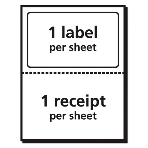 Shipping Labels with Paper Receipt and TrueBlock Technology, Inkjet/Laser Printers, 5.06 x 7.63, White, 50/Pack. Picture 4