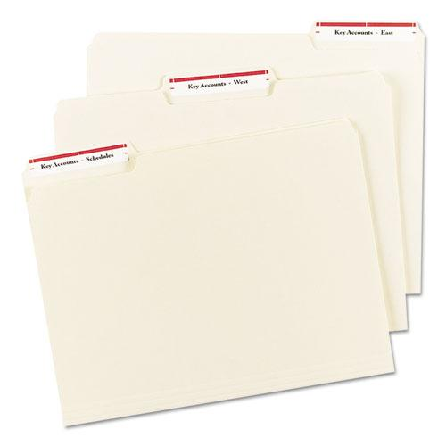 Permanent TrueBlock File Folder Labels with Sure Feed Technology, 0.66 x 3.44, White, 30/Sheet, 50 Sheets/Box. Picture 3