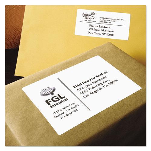 Shipping Labels w/ TrueBlock Technology, Laser Printers, 3.5 x 5, White, 4/Sheet, 100 Sheets/Box. Picture 6