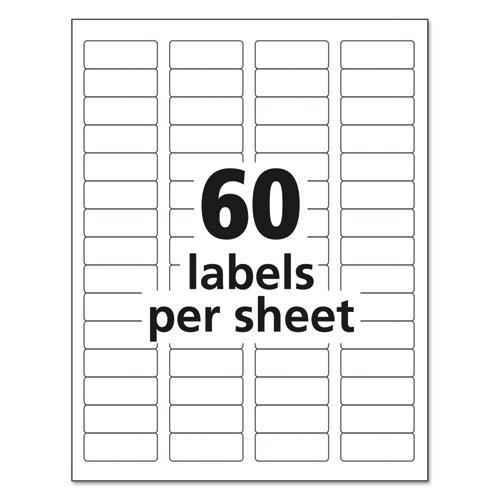 Avery Return Address Labels Template 5195: Easy Peel Mailing Address Labels, Laser, 2/3 X 1 3/4