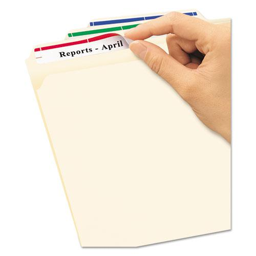 Removable File Folder Labels with Sure Feed Technology, 0.66 x 3.44, White, 30/Sheet, 25 Sheets/Pack. Picture 2
