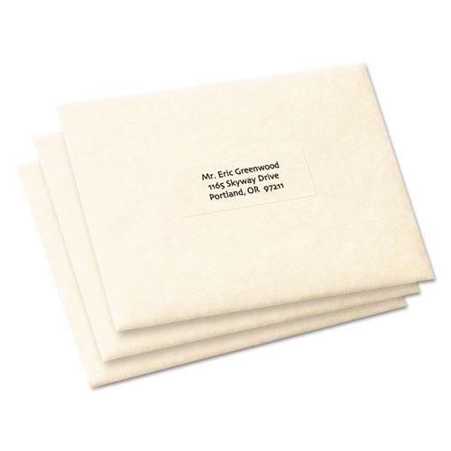 Copier Mailing Labels, Copiers, 1 x 2.81, Clear, 33/Sheet, 70 Sheets/Pack. Picture 4