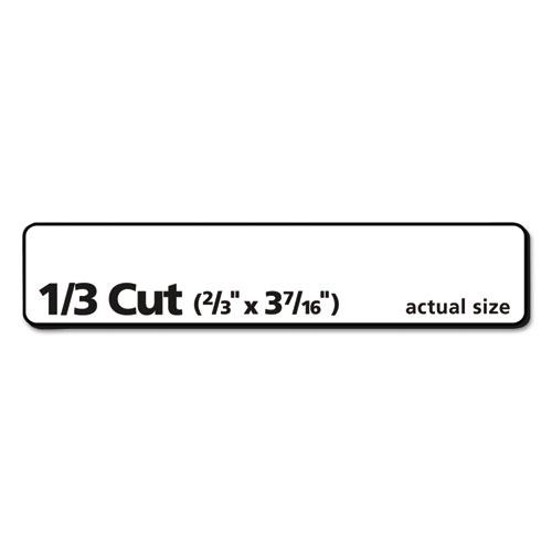 Permanent TrueBlock File Folder Labels with Sure Feed Technology, 0.66 x 3.44, White, 30/Sheet, 25 Sheets/Pack. Picture 5