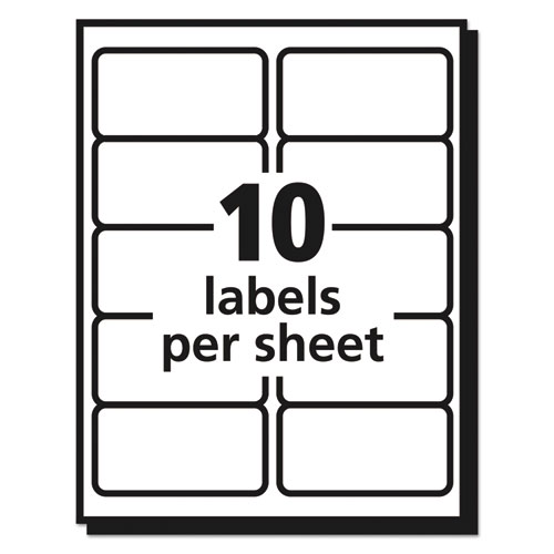 Matte Clear Easy Peel Mailing Labels w/ Sure Feed Technology, Laser Printers, 2 x 4, Clear, 10/Sheet, 50 Sheets/Box. Picture 2