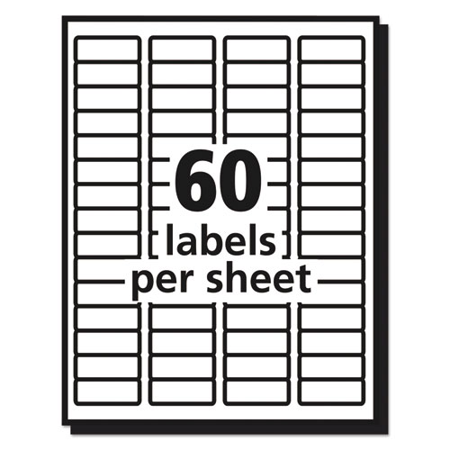 Matte Clear Easy Peel Mailing Labels w/ Sure Feed Technology, Laser Printers, 0.66 x 1.75, Clear, 60/Sheet, 10 Sheets/Pack. Picture 2