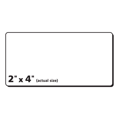 Matte Clear Easy Peel Mailing Labels w/ Sure Feed Technology, Laser Printers, 2 x 4, Clear, 10/Sheet, 50 Sheets/Box. Picture 3