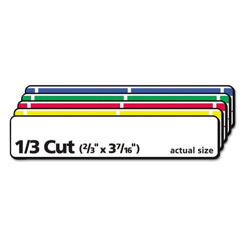 Removable File Folder Labels with Sure Feed Technology, 0.66 x 3.44, White, 30/Sheet, 25 Sheets/Pack. Picture 5