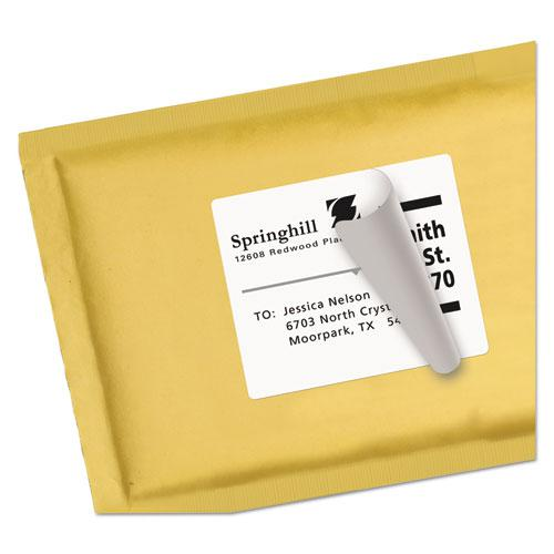 Shipping Labels w/ TrueBlock Technology, Inkjet Printers, 3.33 x 4, White, 6/Sheet, 25 Sheets/Pack. Picture 5