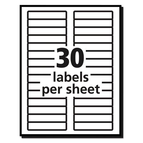 Permanent TrueBlock File Folder Labels with Sure Feed Technology, 0.66 x 3.44, White, 30/Sheet, 25 Sheets/Pack. Picture 6