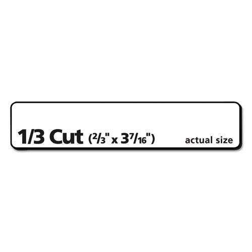 Permanent TrueBlock File Folder Labels with Sure Feed Technology, 0.66 x 3.44, White, 30/Sheet, 50 Sheets/Box. Picture 6