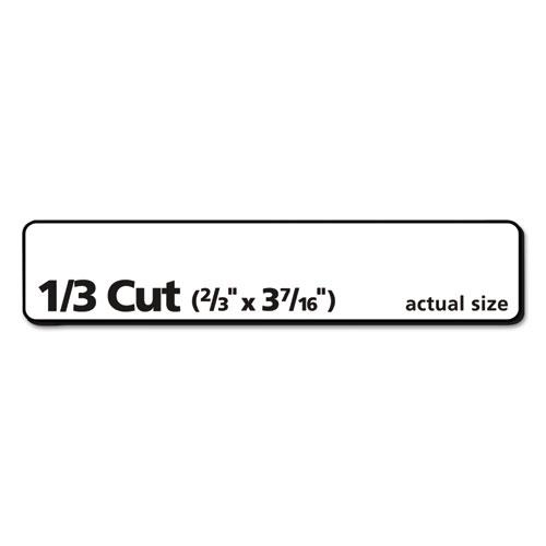 Removable File Folder Labels with Sure Feed Technology, 0.66 x 3.44, White, 30/Sheet, 25 Sheets/Pack. Picture 3