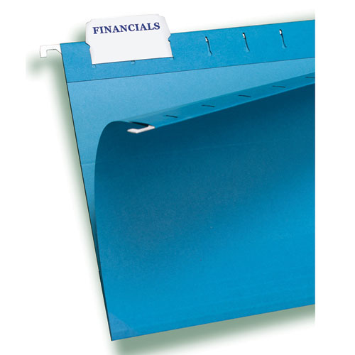 """Laser Printable Hanging File Tabs, 1/5-Cut Tabs, White, 2.06"""" Wide, 90/Pack. Picture 4"""