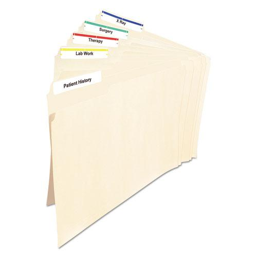 Permanent TrueBlock File Folder Labels with Sure Feed Technology, 0.66 x 3.44, White, 30/Sheet, 25 Sheets/Pack. Picture 3