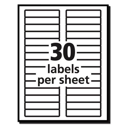 Removable File Folder Labels with Sure Feed Technology, 0.66 x 3.44, White, 30/Sheet, 25 Sheets/Pack. Picture 6