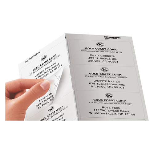 Matte Clear Easy Peel Mailing Labels w/ Sure Feed Technology, Laser Printers, 2 x 4, Clear, 10/Sheet, 50 Sheets/Box. Picture 4