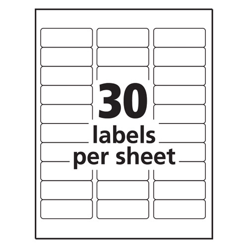 Matte Clear Easy Peel Mailing Labels w/ Sure Feed Technology, Inkjet Printers, 1 x 2.63, Clear, 30/Sheet, 10 Sheets/Pack. Picture 3